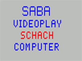Title screen of Schach on the Fairchild Channel F.