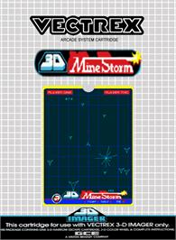 Box cover for 3D Mine Storm on the GCE Vectrex.