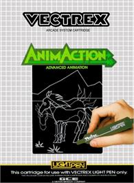 Box cover for AnimAction: Advanced Animation on the GCE Vectrex.