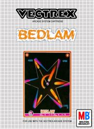 Box cover for Bedlam on the GCE Vectrex.