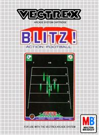 Box cover for Blitz! Action Football on the GCE Vectrex.