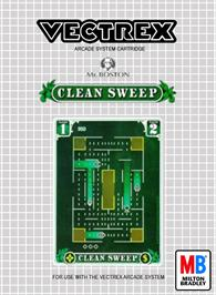 Box cover for Clean Sweep on the GCE Vectrex.