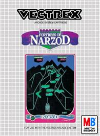 Box cover for Fortress of Narzod on the GCE Vectrex.