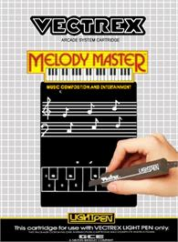 Box cover for Melody Master: Music Composition and Entertainment on the GCE Vectrex.