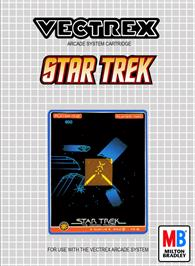 Box cover for Star Trek: The Motion Picture on the GCE Vectrex.