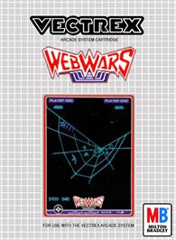 Box cover for Web Wars on the GCE Vectrex.