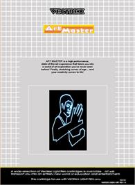 Box back cover for Art Master on the GCE Vectrex.