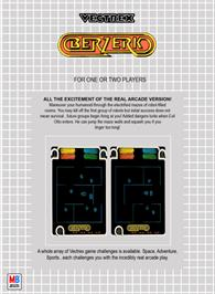 Box back cover for Berzerk (Debugged Prototype) on the GCE Vectrex.