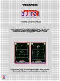 Box back cover for Blitz! Action Football on the GCE Vectrex.