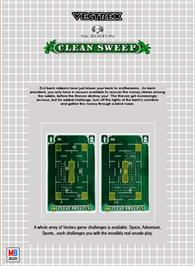 Box back cover for Clean Sweep: Mr. Boston Version on the GCE Vectrex.