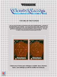 Box back cover for Cosmic Chasm on the GCE Vectrex.
