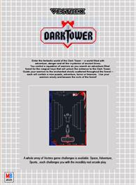 Box back cover for Dark Tower (Prototype) on the GCE Vectrex.