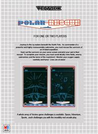 Box back cover for Polar Rescue on the GCE Vectrex.