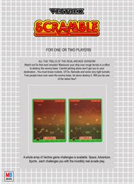 Box back cover for Scramble on the GCE Vectrex.