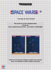Box back cover for Space Wars on the GCE Vectrex.
