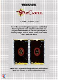 Box back cover for Star Castle on the GCE Vectrex.