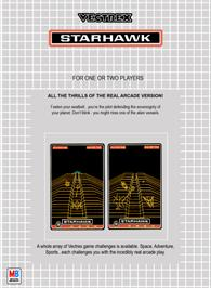 Box back cover for Starhawk on the GCE Vectrex.