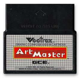 Cartridge artwork for Art Master on the GCE Vectrex.
