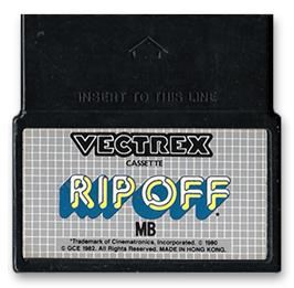 Cartridge artwork for Rip-Off on the GCE Vectrex.