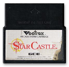Cartridge artwork for Star Castle on the GCE Vectrex.