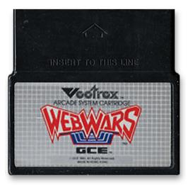 Cartridge artwork for Web Wars on the GCE Vectrex.