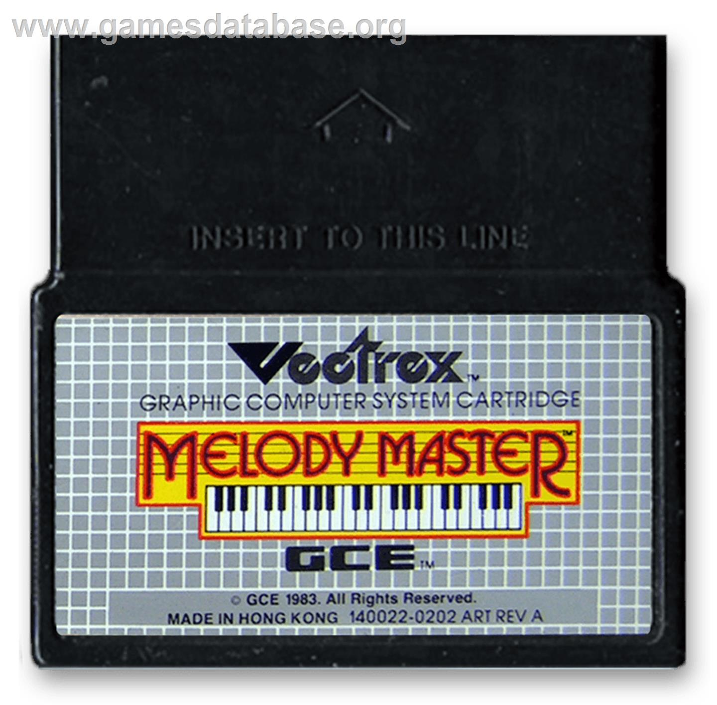 Melody Master: Music Composition and Entertainment - GCE Vectrex - Artwork - Cartridge