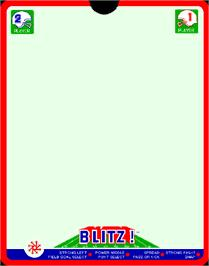 Overlay for Blitz! Action Football on the GCE Vectrex.