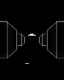 In game image of 2D Narrow Escape on the GCE Vectrex.