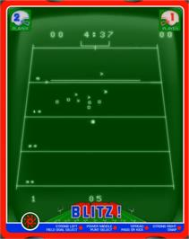 In game image of Blitz! Action Football on the GCE Vectrex.