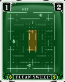 In game image of Clean Sweep: Mr. Boston Version on the GCE Vectrex.