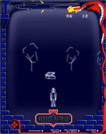 In game image of Dark Tower (Prototype) on the GCE Vectrex.