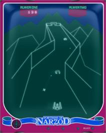 In game image of Fortress of Narzod on the GCE Vectrex.