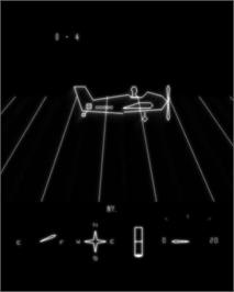 In game image of Mail Plane on the GCE Vectrex.