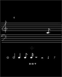 In game image of Melody Master: Music Composition and Entertainment on the GCE Vectrex.
