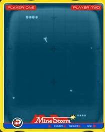 In game image of Mine Storm II on the GCE Vectrex.