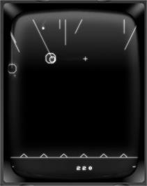 In game image of Patriots on the GCE Vectrex.