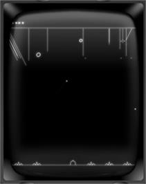 In game image of Patriots III: BALListics Busters on the GCE Vectrex.