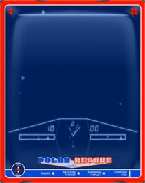 In game image of Polar Rescue on the GCE Vectrex.