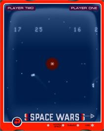 In game image of Space Wars on the GCE Vectrex.