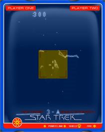 In game image of Star Trek: The Motion Picture (Patched) on the GCE Vectrex.