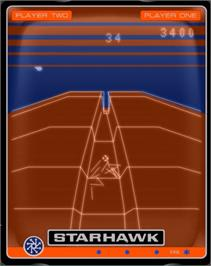 In game image of Starhawk on the GCE Vectrex.