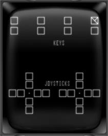 In game image of Test Cartridge (Revision 4) on the GCE Vectrex.