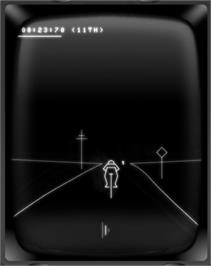 In game image of Tour De France on the GCE Vectrex.