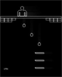 In game image of Vaboom! on the GCE Vectrex.