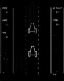 In game image of Vectrace on the GCE Vectrex.