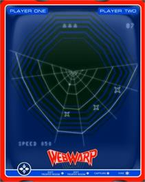 In game image of Web Wars on the GCE Vectrex.