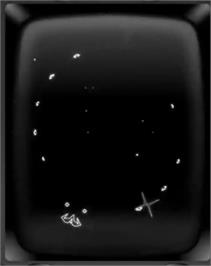 In game image of Wormhole on the GCE Vectrex.