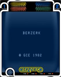 Title screen of Berzerk (Debugged Prototype) on the GCE Vectrex.