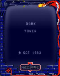 Title screen of Dark Tower (Prototype) on the GCE Vectrex.