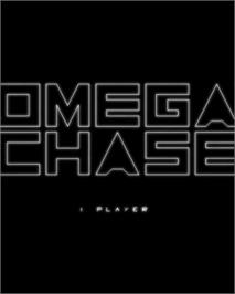 Title screen of Omega Chase: Final Version on the GCE Vectrex.